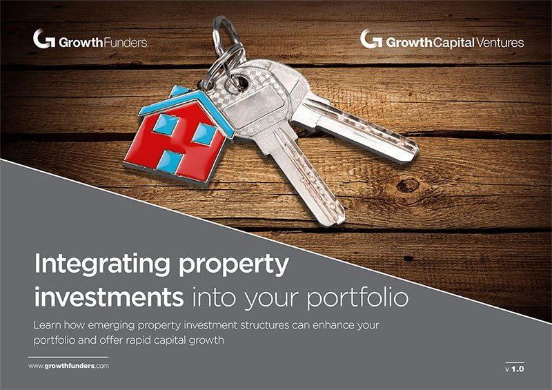 'Integrating property investments into your portfolio' guide front cover